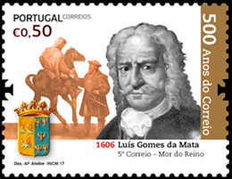 The 500th Anniversary of Postal Service in Portugal (II). Postage stamps of Portugal.