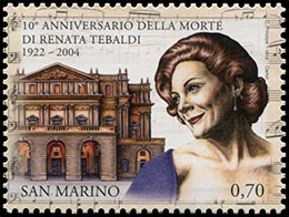 10th Anniversary of the death of Renata Tebaldi (1922-2004). Chronological catalogs.