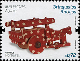 EUROPA 2015. Old Toys. Postage stamps of Portugal. Azores.