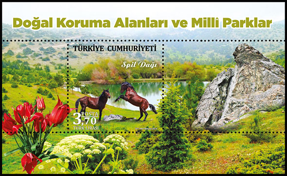 Natural Protected Areas and National Parks. Postage stamps of Turkey.