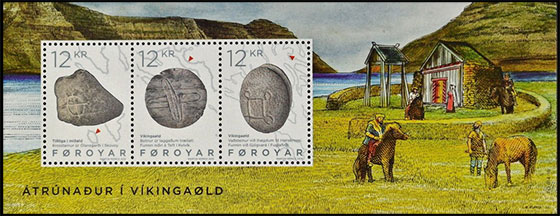 Religion in the Viking Age. Postage stamps of Denmark. Faroe Islands.