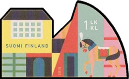 Animal Town. Postage stamps of Finland.