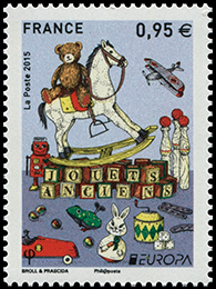EUROPA 2015. Old Toys. Postage stamps of France.