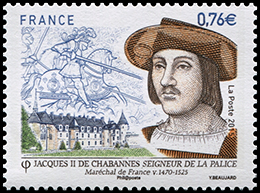 Jacques II de Chabannes La Palice Lord, Marshal of France . Postage stamps of France.