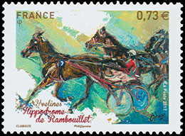 Hippodrome of Rambouillet. Postage stamps of France.
