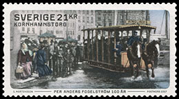100 Years Per Anders Fogelström (1917–1998)00 Years. Postage stamps of Sweden.
