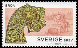Late Iron Age. The Age of the Vikings. Postage stamps of Sweden.