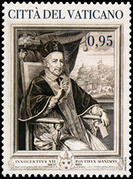 400th Anniversary of the Birth of Pope Innocent XII. Postage stamps of Vatican City.
