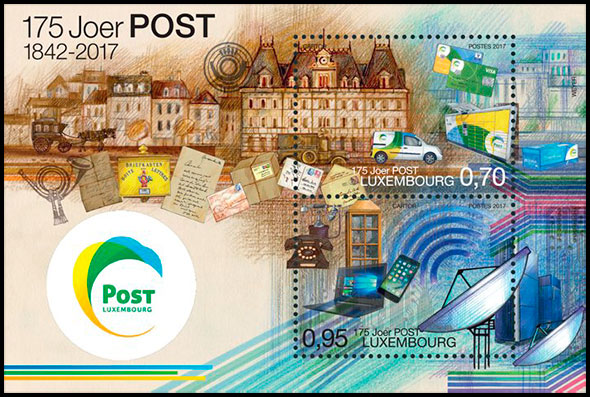 The 175th Anniversary of the postal service in Luxembourg. Chronological catalogs.