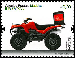 Europa 2013.The Postman Van. Postage stamps of Portugal. Madeira.