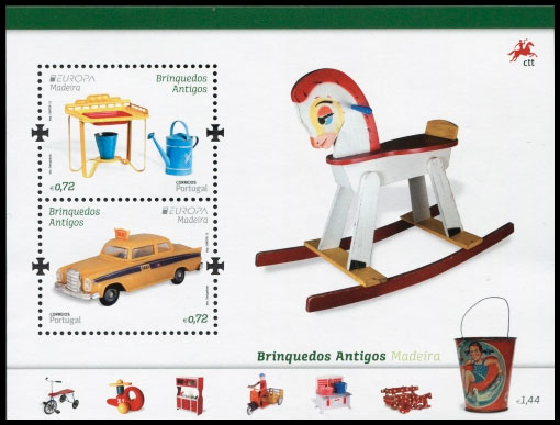 EUROPA 2015. Old toys. Postage stamps of Portugal. Madeira.