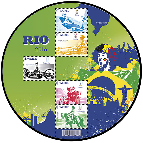 Rio 2016. Postage stamps of Belgium.
