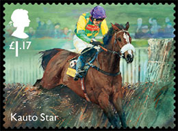 Racehorse Legends. Postage stamps of Great Britain.