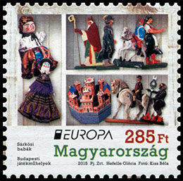 Europa 2015. Old Toys. Postage stamps of Hungary.