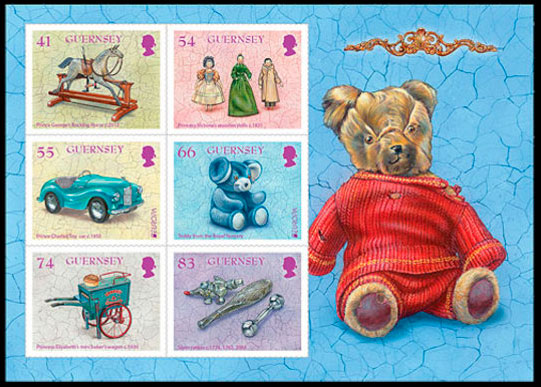 EUROPA 2015. Old toys. Postage stamps of Great Britain. Guernsey.