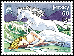 Jersey Myths and Legends. Postage stamps of Great Britain. Jersey.