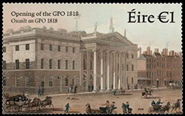 Bicentenary of the opening of the GPO. Postage stamps of Ireland.