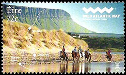 Wild Atlantic Way. Postage stamps of Ireland.