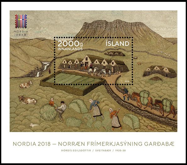 Nordic Philatelic Exhibition NORDIA 2018. Postage stamps of Island.