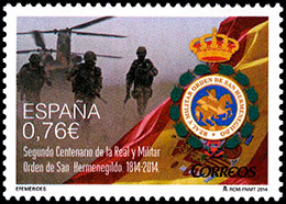 Bicentennial of the Order of San Hermenegildo. Postage stamps of Spain.