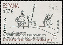Stamp Exhibiion DISELLO 2015. The World of Cervantes. Postage stamps of Spain.