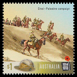 Centenary of WWI: 1917. Postage stamps of Australia.