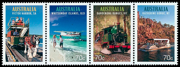 Tourist Transport. Postage stamps of Australia.