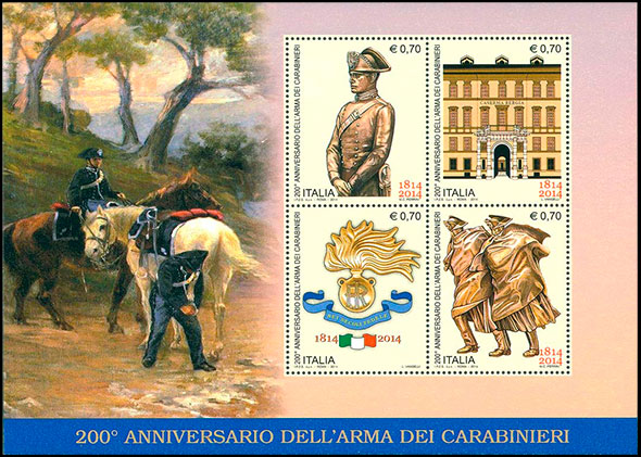 200th anniversary of the Carabinieri. Chronological catalogs.