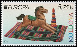 Europa 2015. Old Toys. Postage stamps of Moldova.