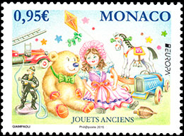 EUROPA 2015. Old toys. Postage stamps of Monaco.