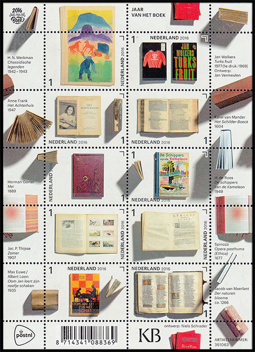 Year of the Book. Postage stamps of Netherland.